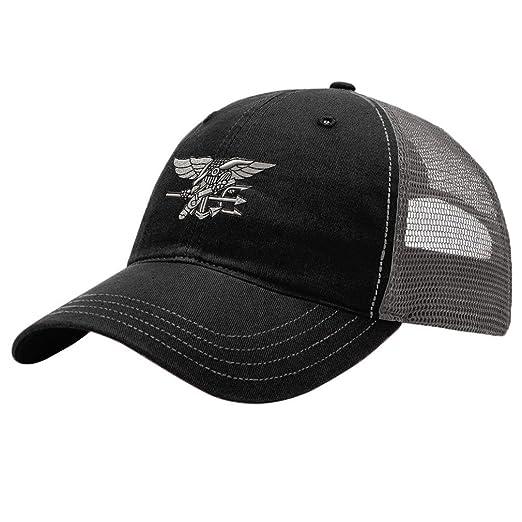 Amazon.com  Navy Seal Silver Logo Embroidery Design Richardson ... 3c877735c0b3