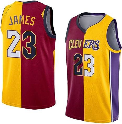 Baloncesto Empalme Jerseys de Lebron James 23 Los Angeles Lakers ...
