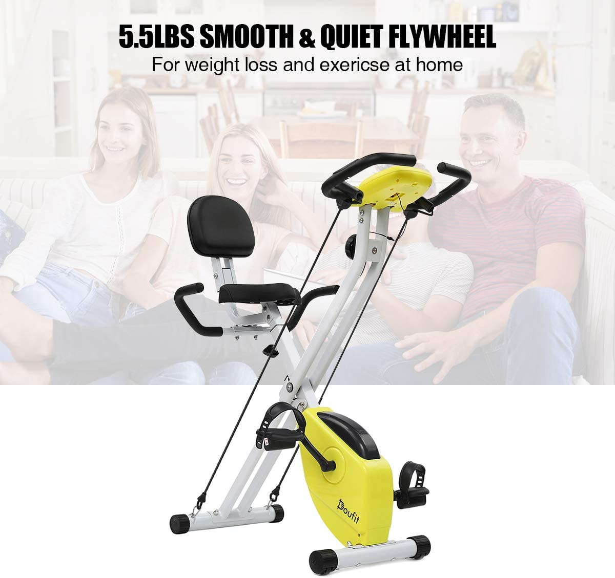 Doufit Folding Exercise Bike