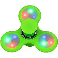 Spinnerooz Green Light Up Hand Spinner Novelty Toy - Fidget Spinner - 5 in 1 - Jump, Bounce, Spin