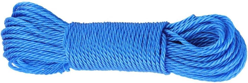 Blanco MAGT Cuerda de Nylon 20M Cuerda para Colgar Resistente Cuerda para Tender la Ropa Jard/ín Acampar al Aire Libre