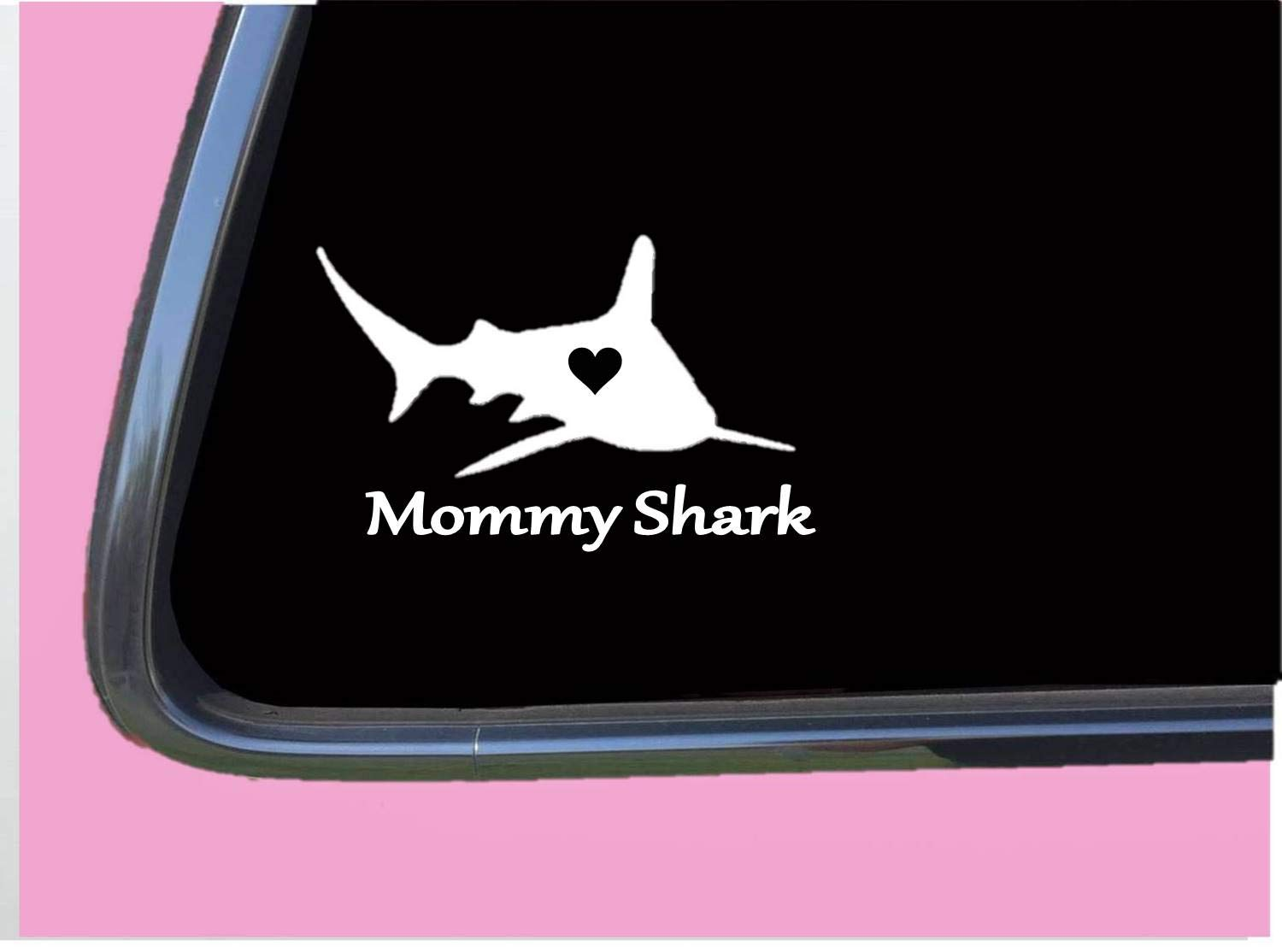 """Mommy Shark Sticker TP 397 vinyl 8"""" Decal song mama mom daddy"""