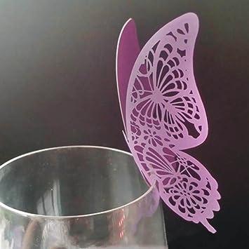 50 Stucke Diy Schmetterlinge Tischkarten Namenskarten Glasanhanger