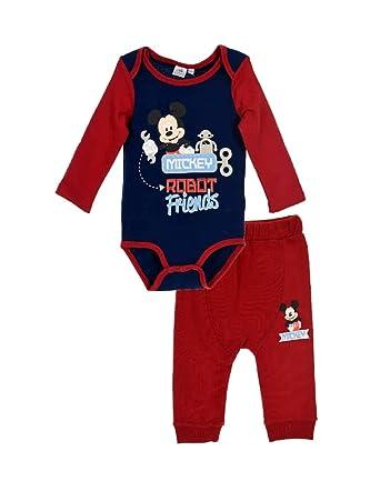Ensemble Pantalon et Body bébé garçon Mickey 2 Coloris de 6 à 24mois -  Marine  857e828d8b5
