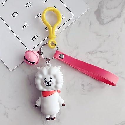 Inovey Corea Cute Bulletproof Youth Car Keychain Hombres De ...