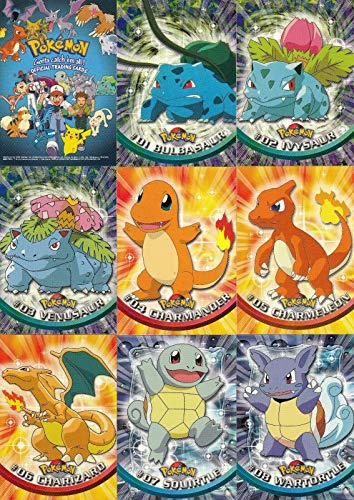 POKEMON 1 TV ANIMATION EDITION 1998 TOPPS COMPLETE BASE CARD SET OF 90