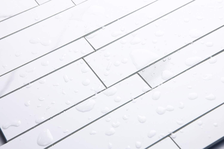 "Peel and Stick Backsplash Tile,5-Sheet 11.7/""x11.5/""PVC Bevel Stone Tile Self-Adhesive Marble Subway Tile for Kitchen and Bathroom"