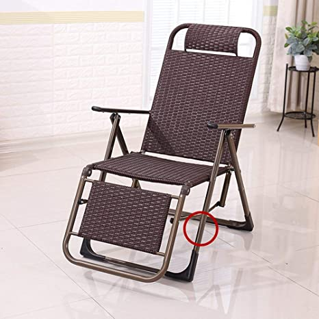 XHX Tumbonas plegables, silla de mimbre reclinable, silla de ...