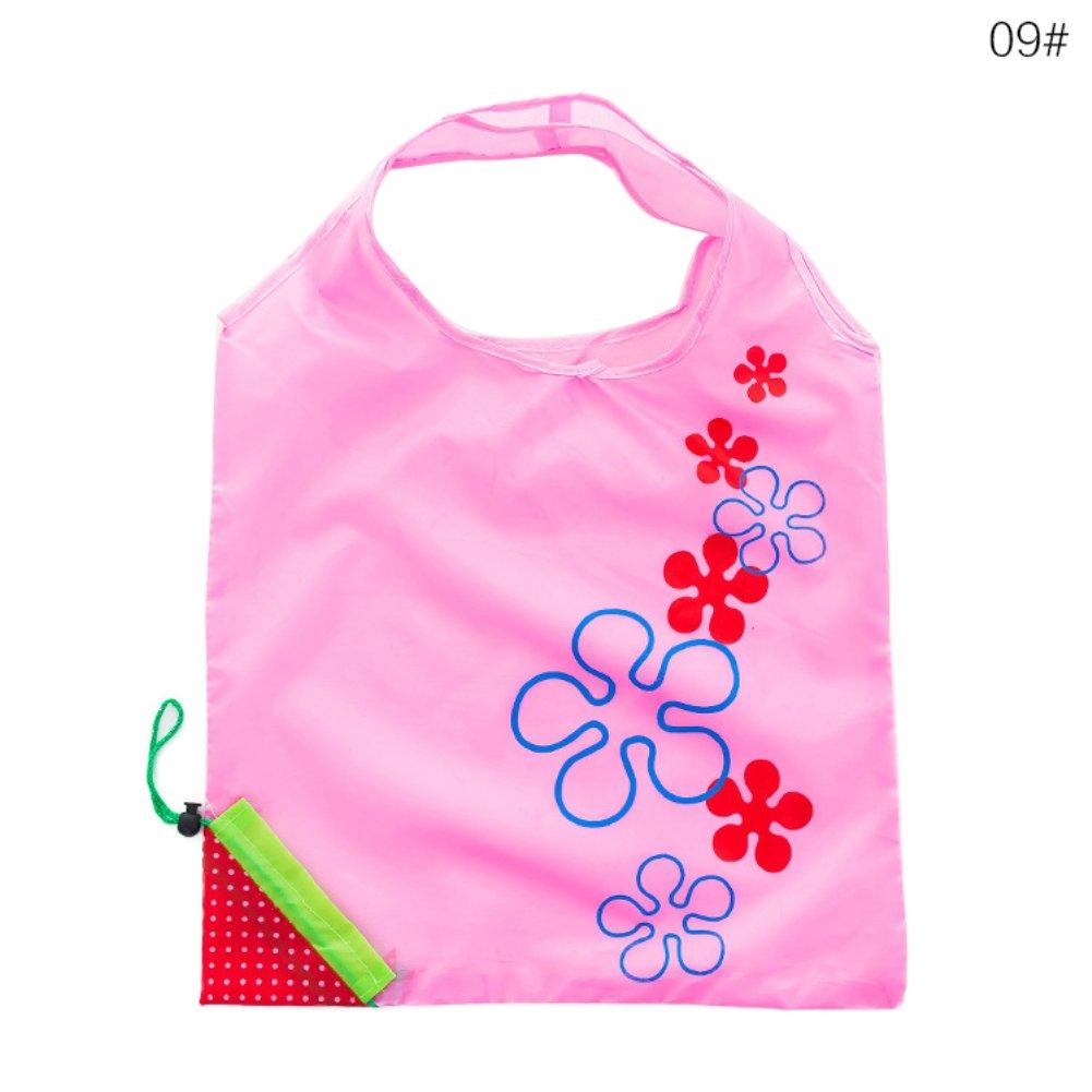 Easy shopping organizzatore pieghevole drogheria borsa da shopping riutilizzabile pieghevole sacchetto borsetta 【 di risparmiare tempo e energia 】 Hongfutong