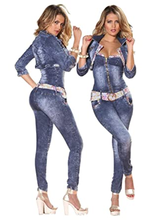 925cdb486767 Yes Brazil Colombian Butt Lift Jean Jumpsuit Enterizo Colombiano 7769 (11)