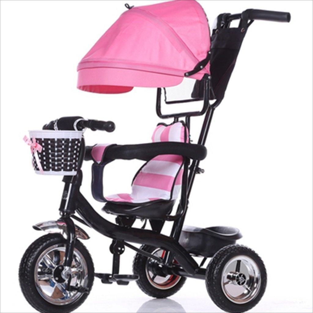 子供の屋内屋外の小さな三輪車自転車の男の子の自転車の自転車6ヶ月-6歳の赤ちゃん3つのホイールトロリー天井、固体プラスチックホイール (色 : 5) B07DVFDX2D 5 5