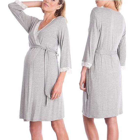 54573dce1 Sunjing Pijamas Enfermería Cuidado De Vestidos Pijamas Pijamas De Las  Mujeres para Lactancia Vestido