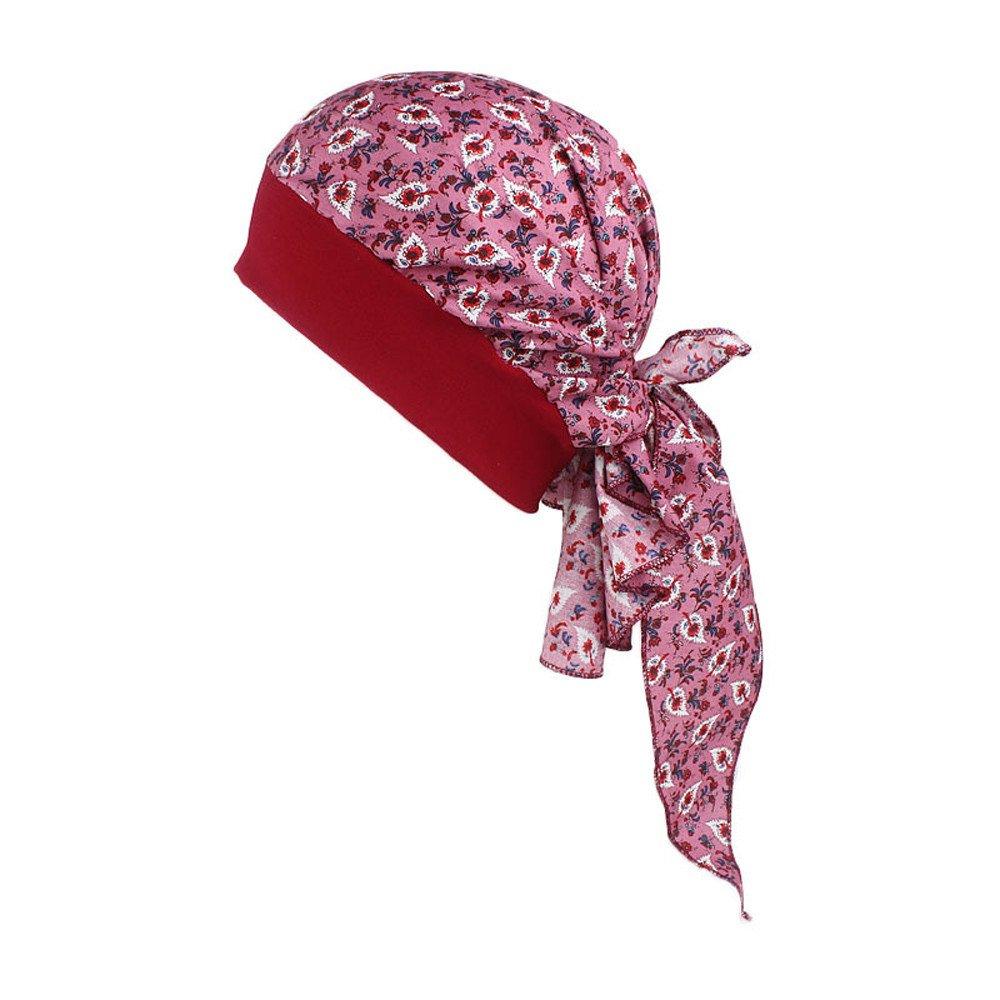 Women's Print Pirate Turban Hat Hair Band Headband Hair Loss Head Wrap Cap Cancer Chemo Cap Slouchy Hats for Women