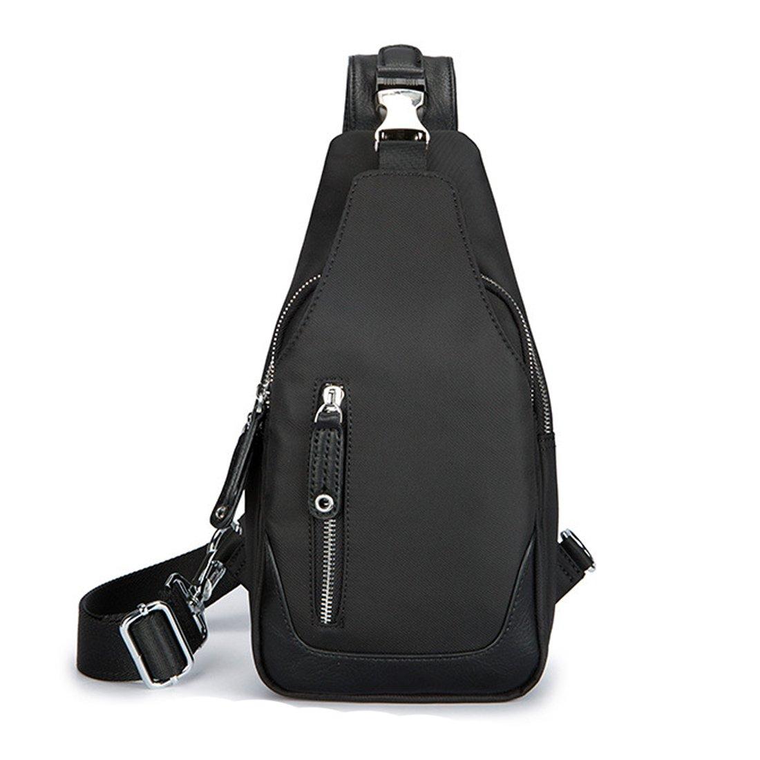 Aikosha Mens Sling Bag Fashion Waterproof Chest Bag For Hiking Travel Cycling Camping