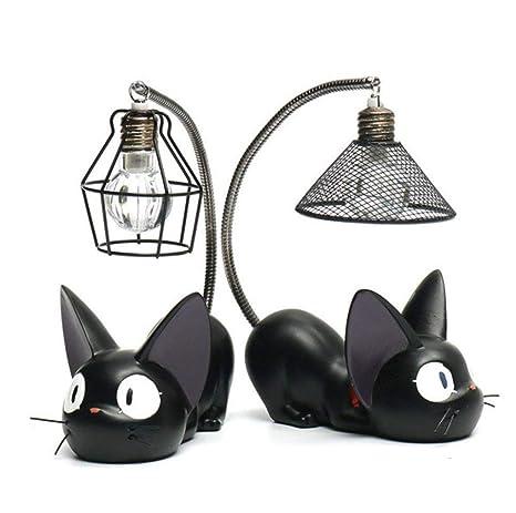 Diseño De Cola De Gato De Dibujos Animados Resina Noche Lámpara Figura De Acción Juguetes para