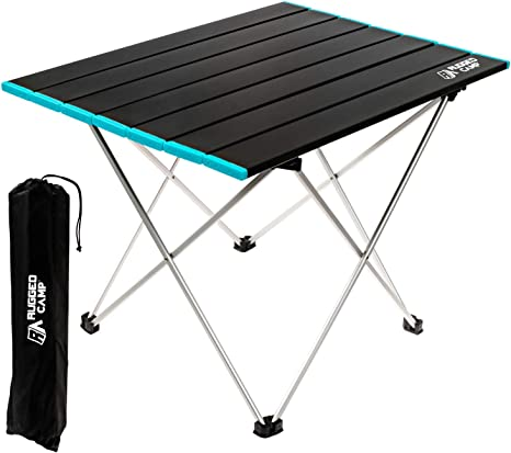 BBQ Fishing and Travel Black - S Techsea Folding Beach Camping Table Picnic Ultralight Aluminum Portable Collapsible Table top with Storage Bag for Hiking