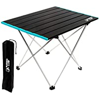 Barbecue Beach ZhiCheng Portable Camping Table with Storage Bag Small Fishing Foldable Aluminum Alloy Picnic Table Picnic Camping Suitable for Outdoor