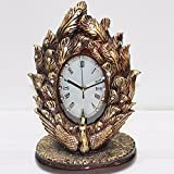 OLQMY-Luxury home decoration High-grade resin clock, home living room bedroom alarm clock, European retro bell, crafts Decoration