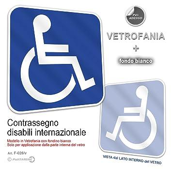 Aufkleber Behinderten Symbol International 12 X 12 Cm Aus