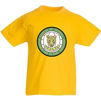 6fac98f66f3 Kids retro Zaire Leopards 74 T-shirt  Amazon.co.uk  Clothing