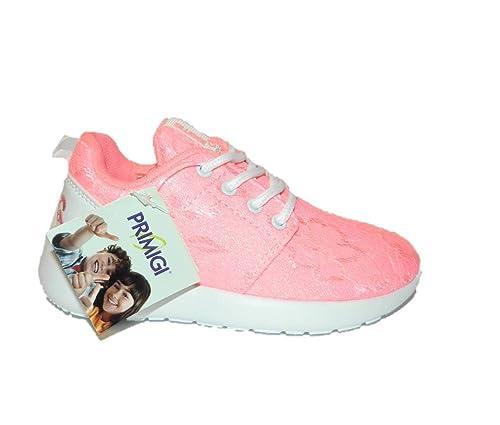 huge discount 546cb 0efe6 PRIMIGI sneakers scarpe bimba in PIZZO FUXIA ginnastica ...