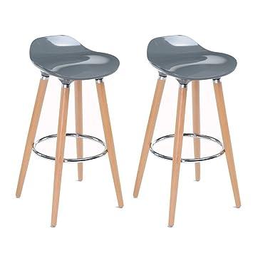 Amazon.com: WOHOMO Stylish Modern Bar Stools Counter Height ...