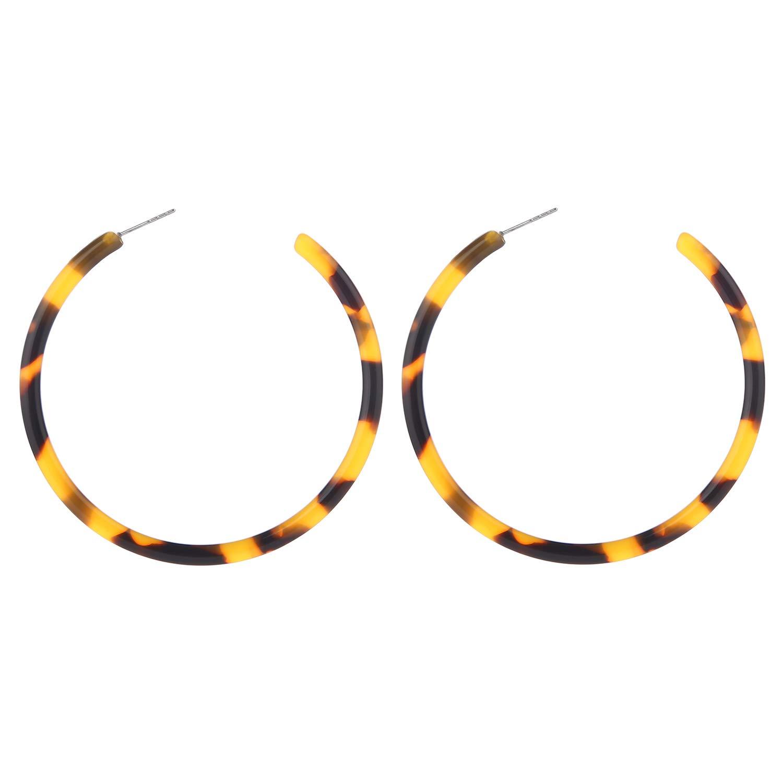 f746471646d46 LEGITTA Tortoise Shell Resin Hoop Earrings Fashion Jewelry for Women