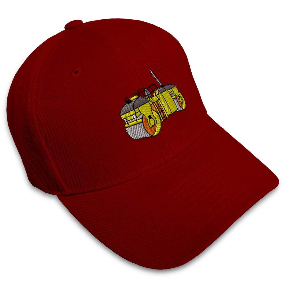 Custom Baseball Cap Asphalt Roller Embroidery Acrylic Dad Hats for Men /& Women