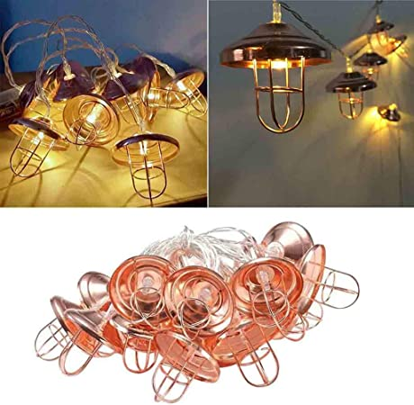 Solar Powered 10//20 LED Retro Bulb String Lights Outdoor Garden Xmas Fairy Lamps