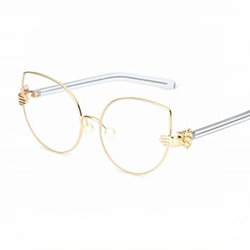 Unregelmäßige Sonnenbrille Windperlen Palme Flachrahmen Spiegel Ozean Blatt Goldrahmen Voll Grau sKhat4kV