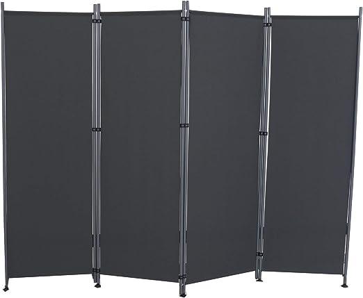 Froadp 215x170cm Plegable de Biombos de Dormitorio Privacidad Protectoras Pantallas Separador de Ambientes para Balcón Patio Jardín(Antracita): Amazon.es: Hogar