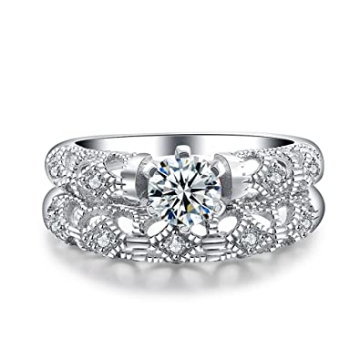 Amazon Com T Ring Fashion 925 Sterling Silver Ring For Women Ring