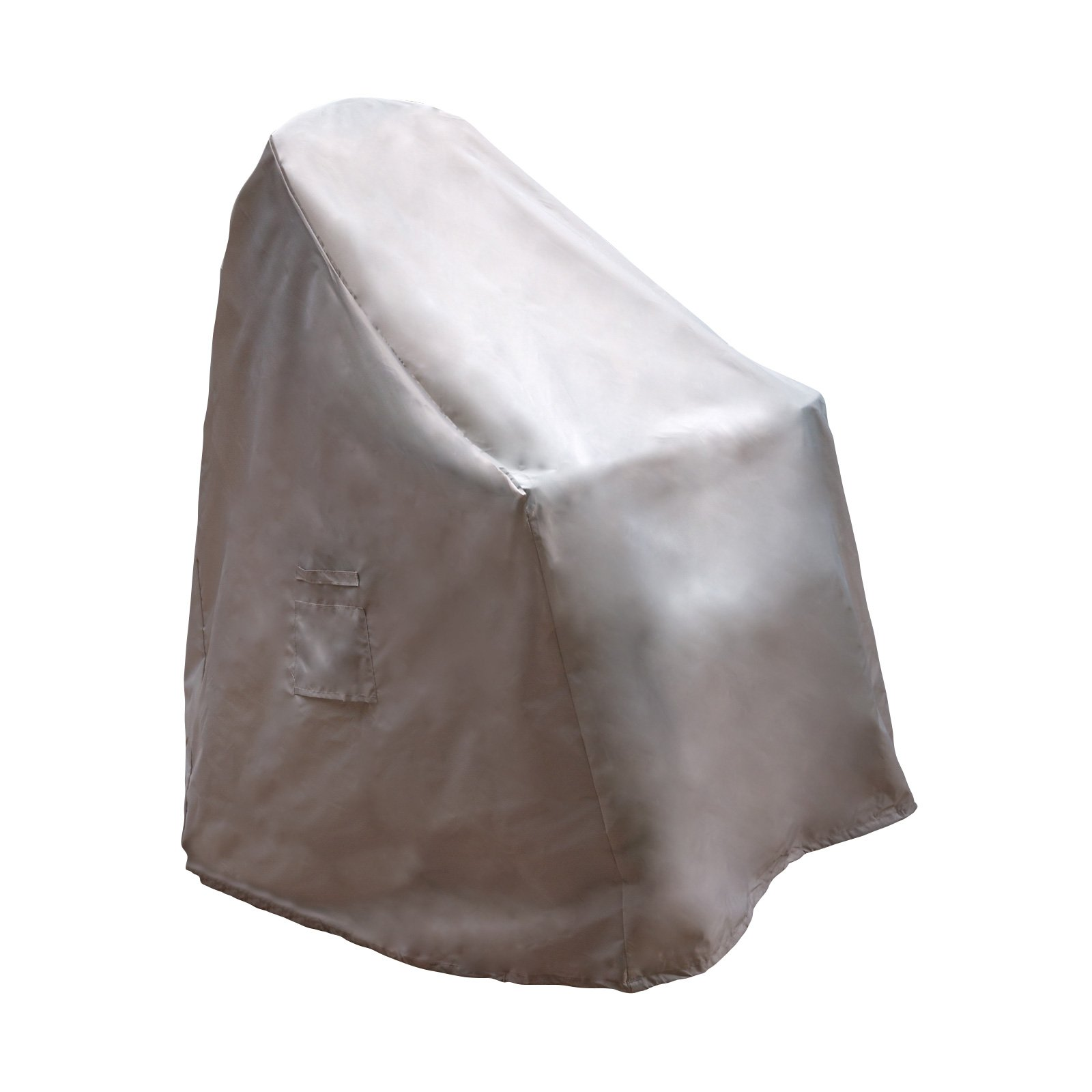 Reusable Revolution Stackable Chair Cover - Water Resistant Outdoor Patio Furniture Cover (Light Grey)