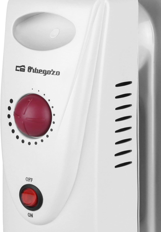 Elektrische Raumheizungen Orbegozo RO 1210 C Wei/ß 1200W Heizk/örper Heizk/örper, Flur, Wei/ß, Drehregler, 1200 W, 360 mm