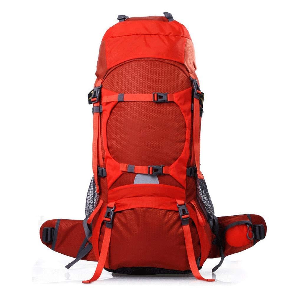 70L大容量屋外スポーツ防水登山バッグキャンプ多機能屋外バックパック (容量 : Capacity -80L, 色 : オレンジ) Capacity -80L オレンジ B07RVHXZH8