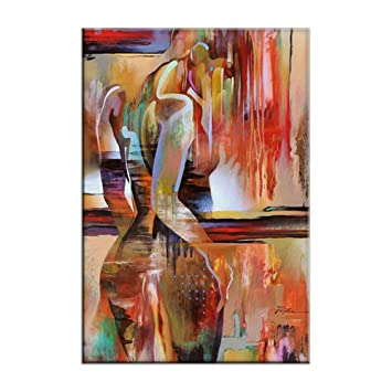 Sexy Naked Lady Abstract Wall Art Decoration Painting Canvas Pictures Watercolor Character Pattern Hotel Corridor