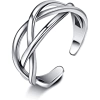 SNORSO Women's S925 Sterling Silver Thumb Ring Celtic Knot Adjustable Open Ring