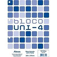 Bloco para Fichário, Foroni 8920, Multicor, Pacote com 10 Unidades
