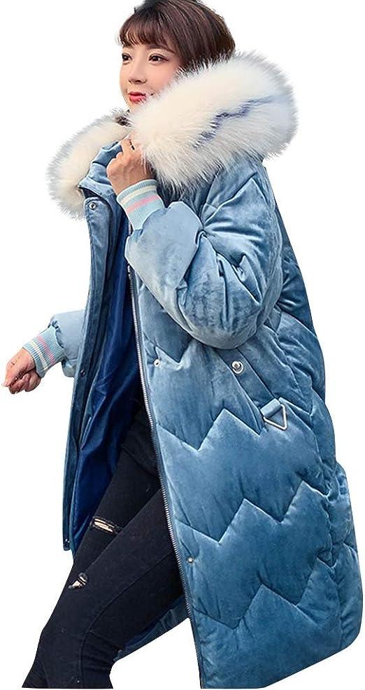 Women Winter Long Down Jacket Coat Puffer Parka Hooded Warm Overcoat Outwear