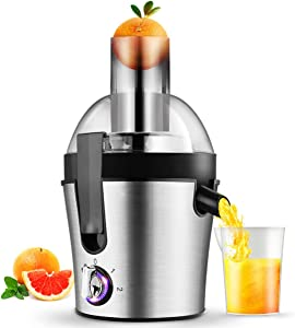Centrifugal Juicer Extractor Wide Mouth Small Juice Machine Easy Clean with Brush,Extract Fresh Juice Compact 13.6 x 9.05 In Small Quiet 1500ml Volume Cold Press Juice Extractor,Suitable Most Fruit and Vegetable 300W