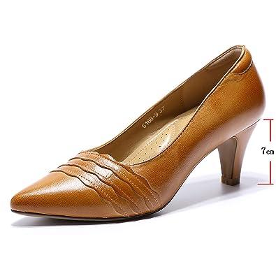 Amazon.com: Mona Flying Zapatos de piel auténtica para mujer ...