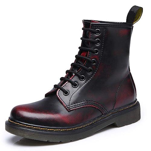 Botas Militares Unisex Adulto QImaoo Moda Invierno Zapatos Boots Botines Botas de Nieve Botas para Hombre Mujer