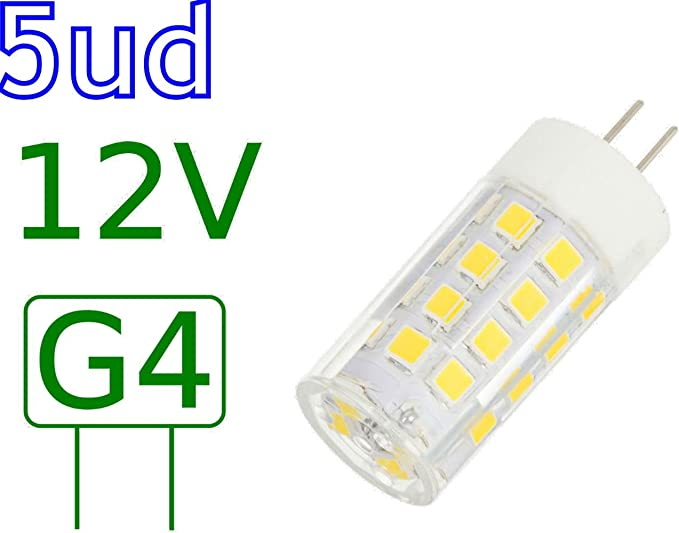 Blister 5 Bombillas LED G4 5W blanco natural 4000K