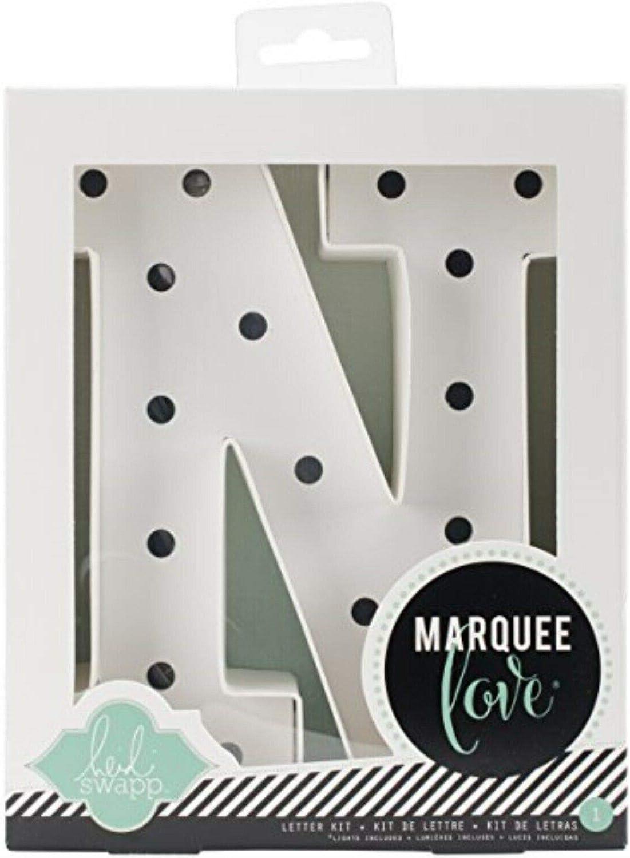 Heidi Swapp Marquee Love Led Letras S 21.6x5.6x21.6 cm Blanco Cart/ón