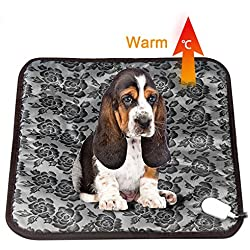 Pet Dog Cat Heating Pad Mat Waterproof Electric Warming Bed With Anti Bite Tube, EIISON