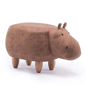 YIRE stool Kreative Schuhe Hippo Hocker Cartoon Massivholz sdCthQrx