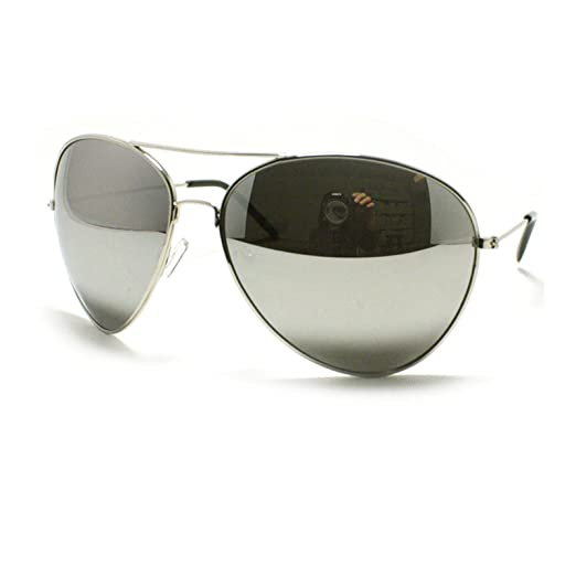 4db4ac19e5 Image Unavailable. Image not available for. Color  Silver Mirror Aviator  Fashion Sunglasses