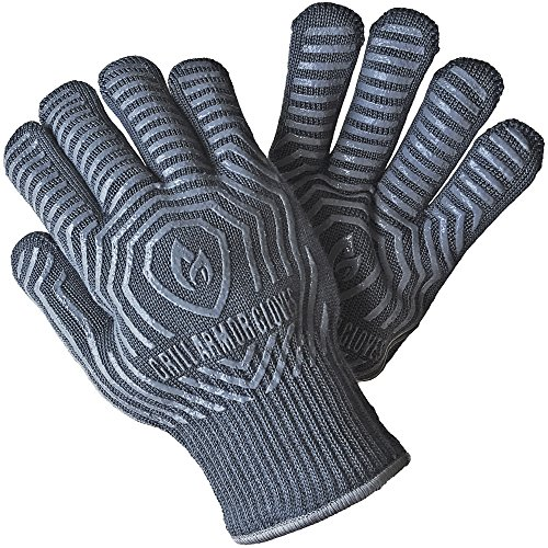 Grill Armor 932°F Extreme Heat Resistant Oven BBQ Gloves for this list of coolest camp Dutch oven accessories
