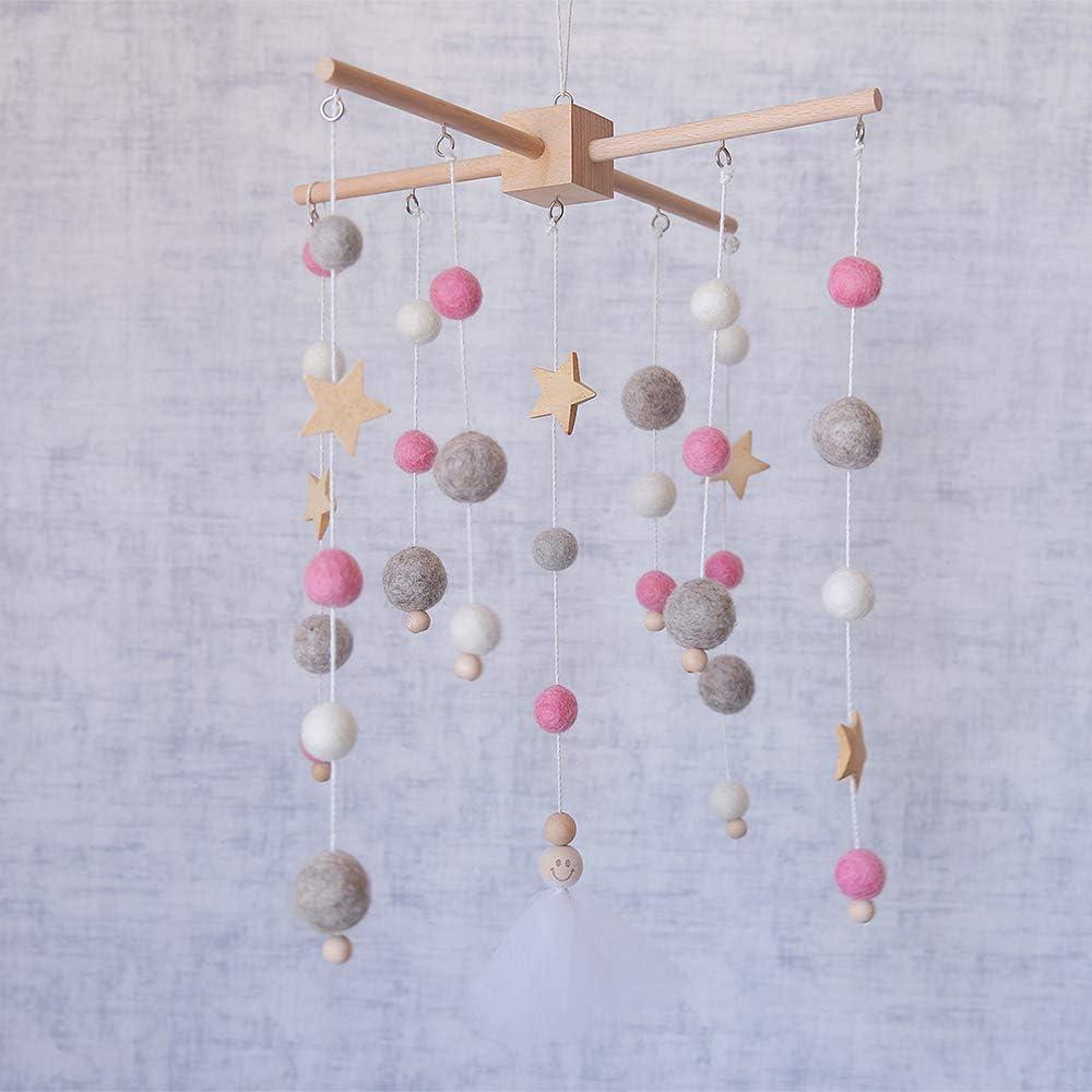 lets make Baby Crib Mobile Campana de Cama de Campana de Viento de Madera Cuna M/óvil de Guarder/ía Cama Campana Beb/é Dormitorio Techo Cuentas de Madera Campana de Viento Colgando