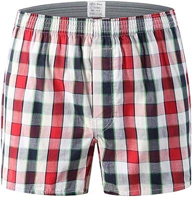 JAZ6 Boxer para Hombre Pack de 3 Calzoncillos de algodón para Hombre Calzoncillos de Talla Grande Ropa Interior cómoda Calzoncillos Casuales para Hombre Pantalones Cortos de Pijama para Hombre: Amazon.es: Ropa y